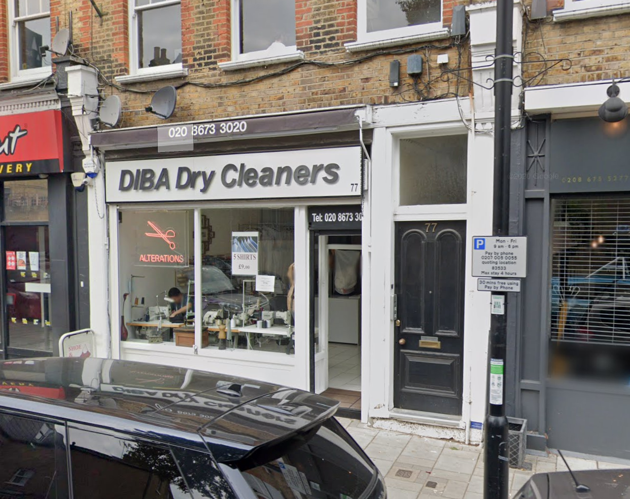 a picture of diba dry cleaners