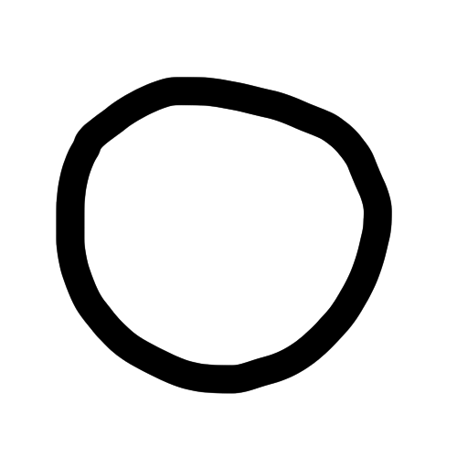 site logo, looks like a wobbly circle